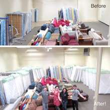 Sealy Mattress Donation Before & After