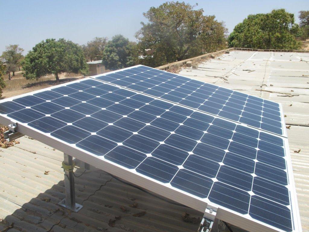 Solar panels installed in Kirina