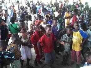 Music students celebrating PFC Day in Kirina