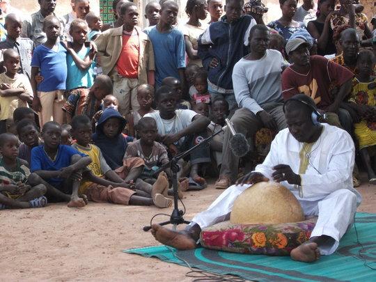 Mahamadou Diabate in the village of Kirina