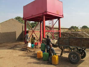 The new well in the village has a solar pump.