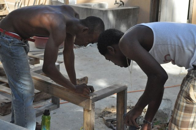 Learning the basics of carpentry