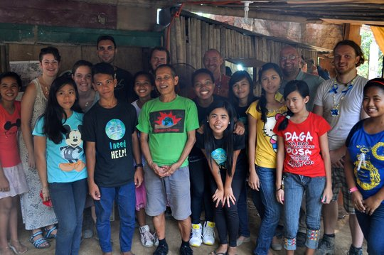 The youth group with their adult advisors
