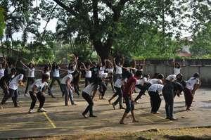 A group dance