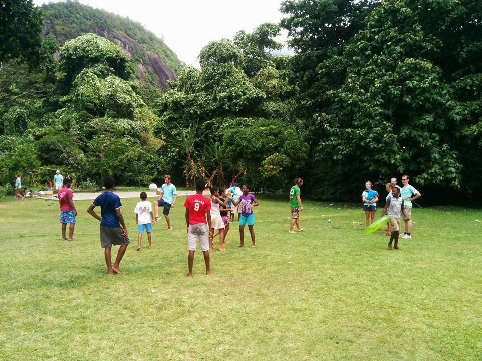 Football match at Creole Day