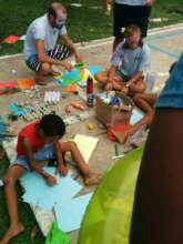 Face painting and craft station