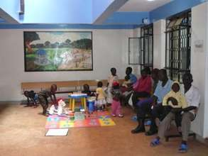 Waiting and play area for children in the Clinic