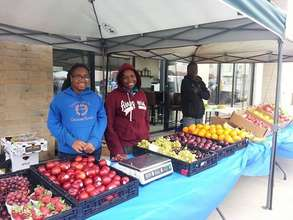 Our market stand at Juneteenth in Milwaukee