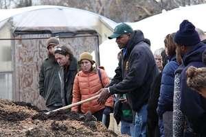 Conference participants get a tour of our farm