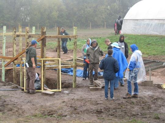 Building below-ground aquaponics system  Oct 2013