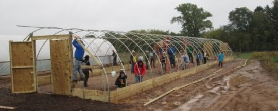 Hoop House Construction at Training