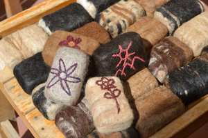 Presenting new felted soaps from Huilloc.