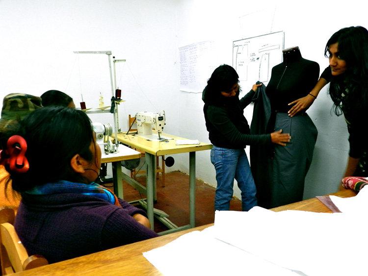 Tara and Paula teaching first classes