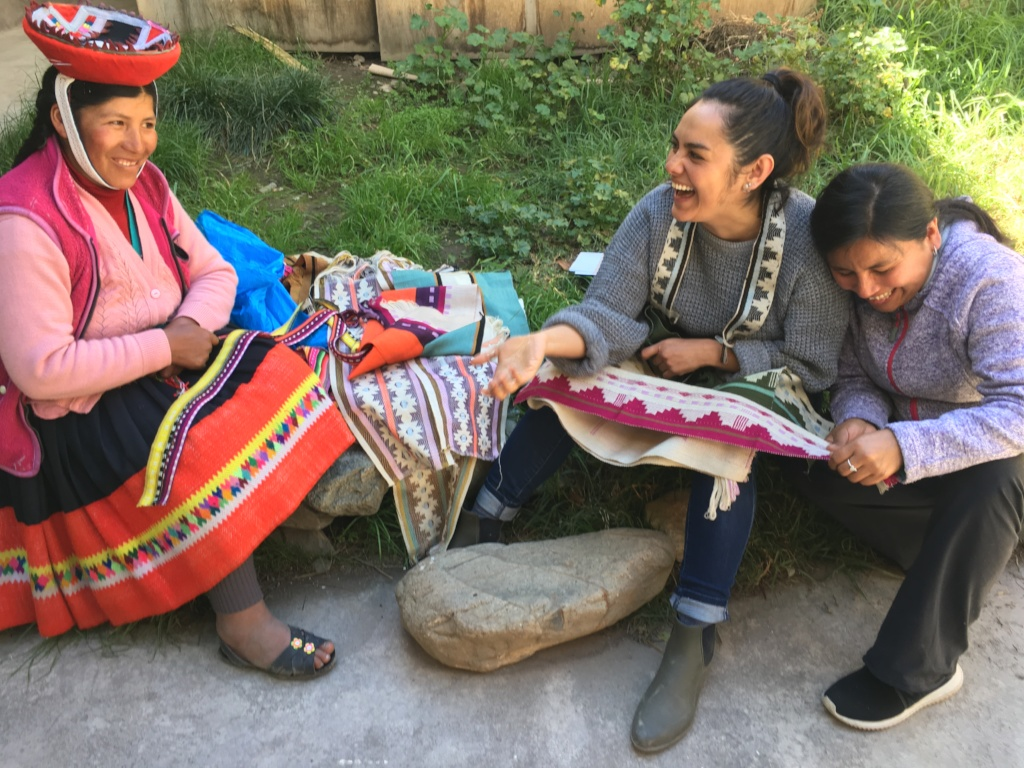 Alejandra and two of our partner artisans