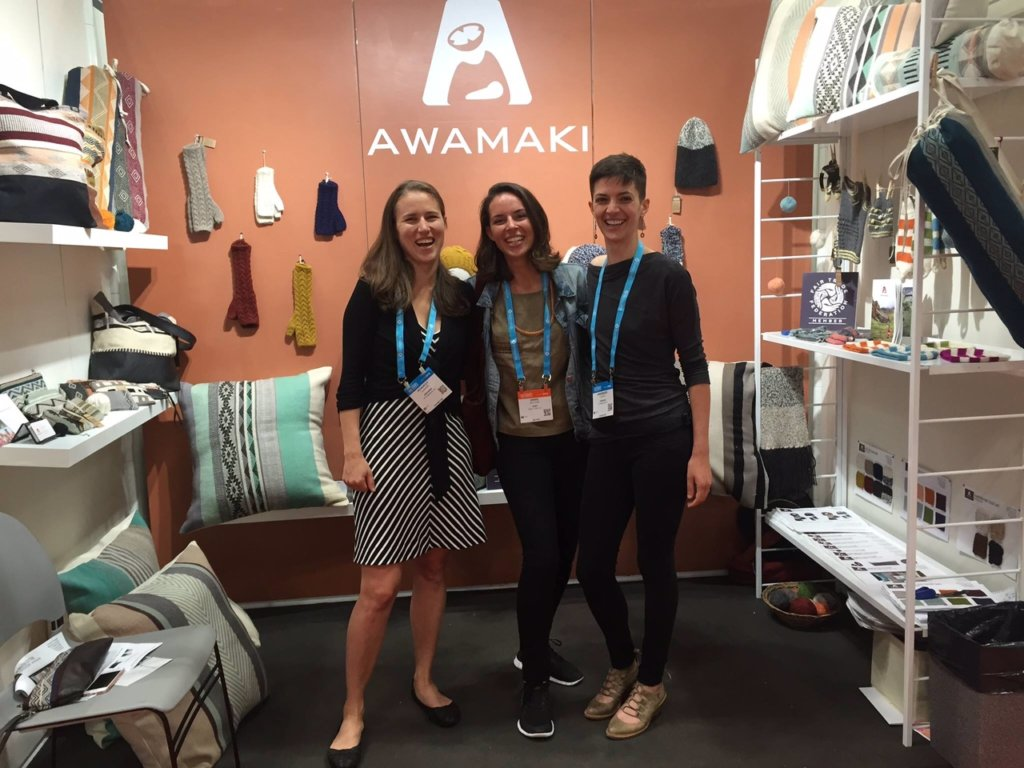 Awamaki reunion of Kennedy, Annie, and Anne Marie