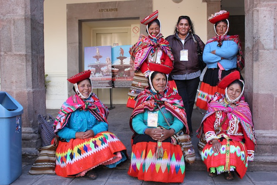Weavers attend conference in Cusco