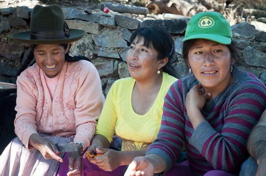 The knitters in Rumira.