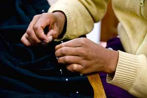 Hand-sewing detail