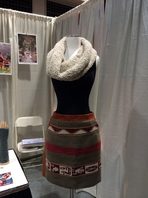 The hand-knit scarf