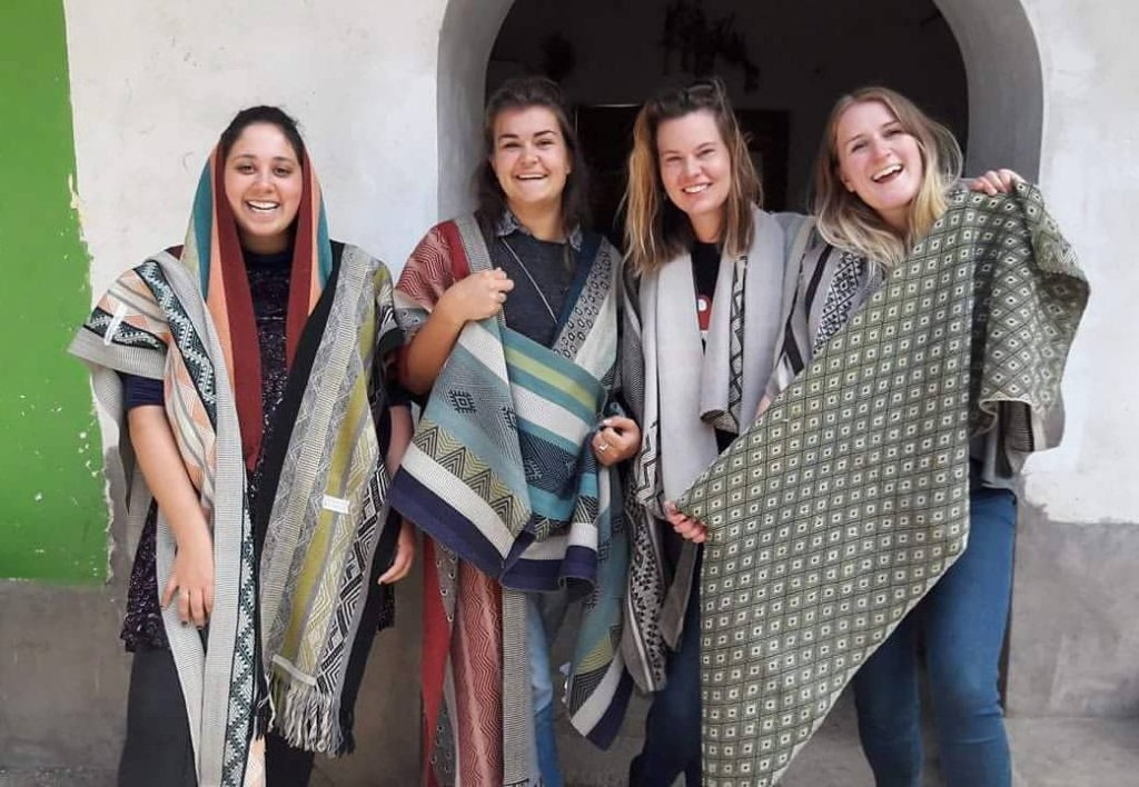 Awamaki Design Interns and their creations