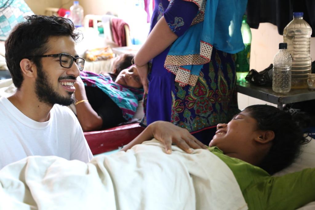 Selfless Volunteer with HOPE Patient