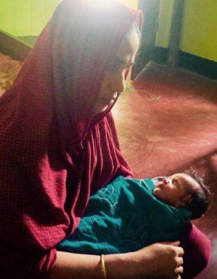 Rokeya and her newborn