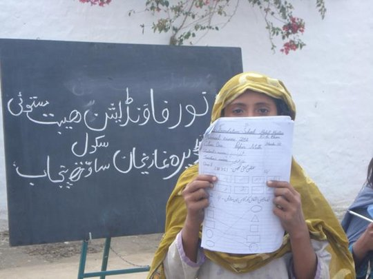 School for the flood hit children in Pakistan