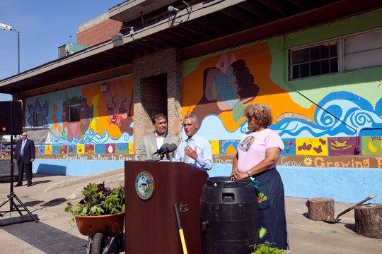 Mayor Emanuel with Erika Allen