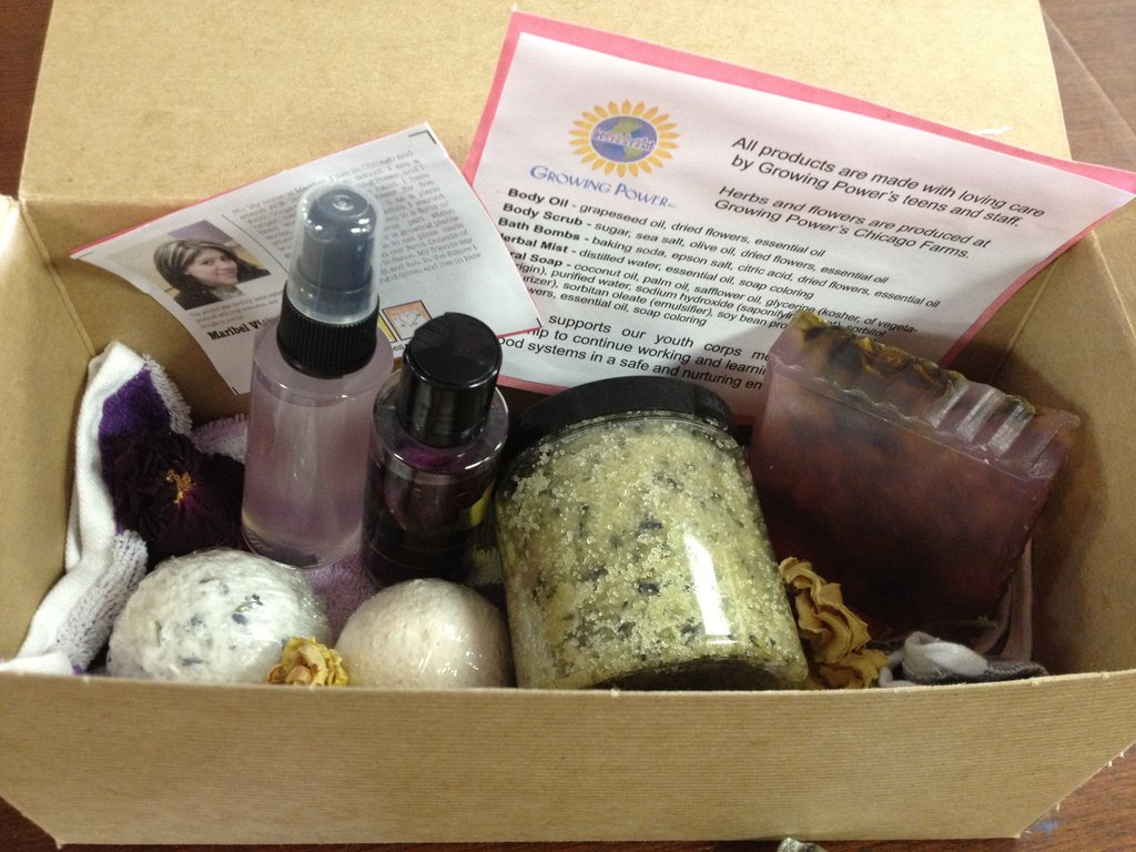 Beauty Gift Baskets made by Growing Power Teens