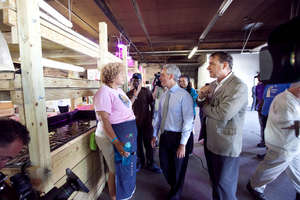 Mayor and Iron St.'s aquaponics