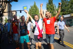 Having a blast at AIDS Walk Portland 2015