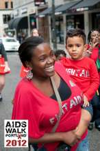 Mother and son walk to fight AIDS