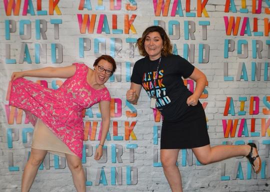 CAP staff celebrate AIDS Walk!