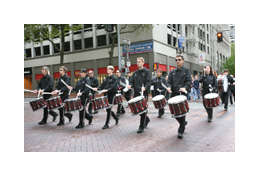 Drum corps leading AIDS Walk Portland 2012
