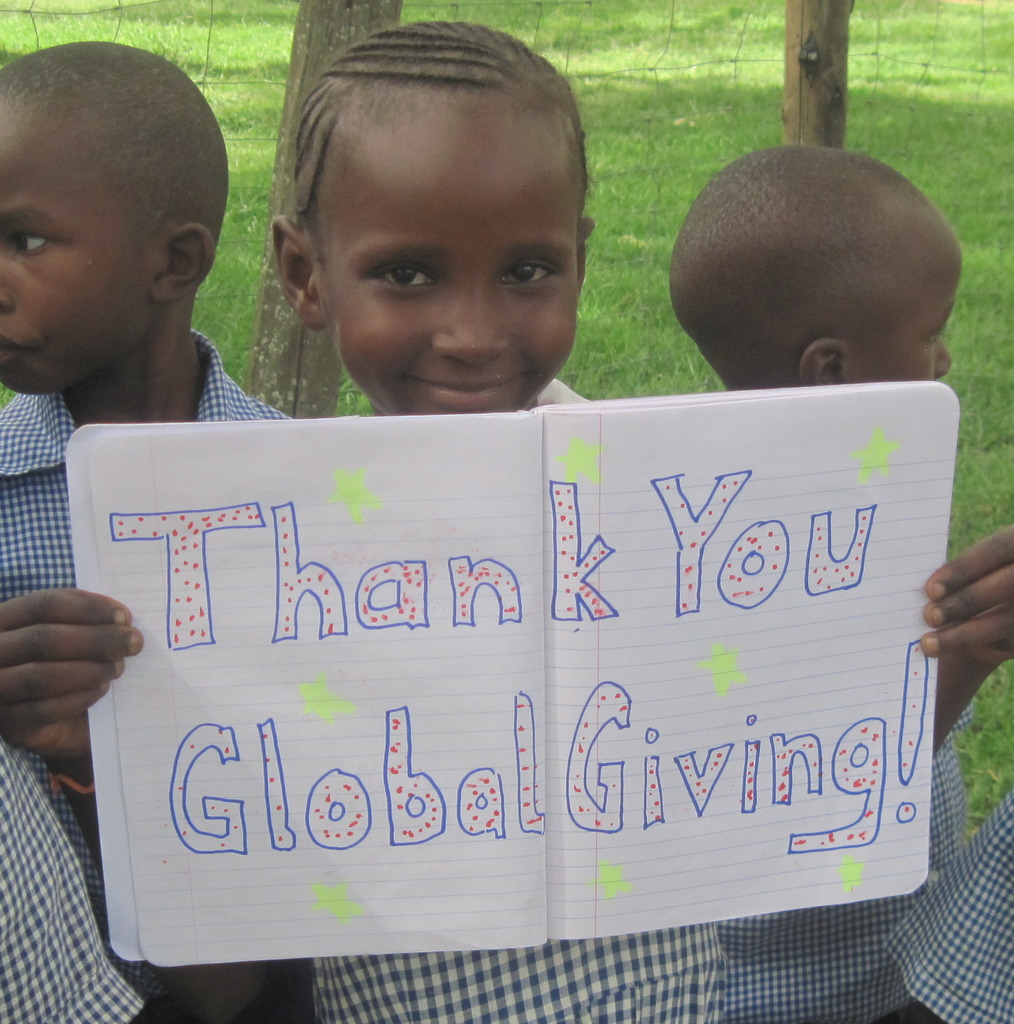 Thank you from 1 of our schoolchild beneficiaries