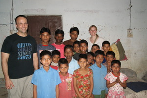 Bill and Kendel at orphange March 2013