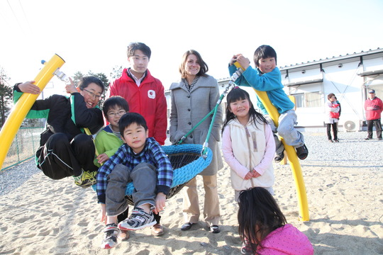 Our Britt Lake visits the project site - AAR Japan