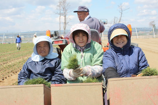 Women volunteering at OISCA