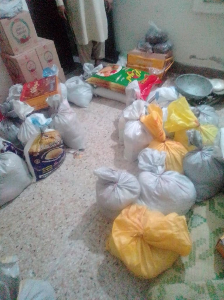 Food packets for families