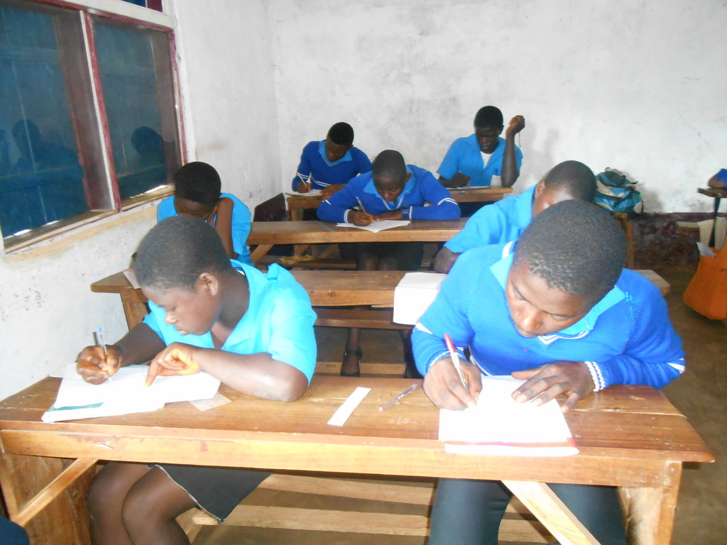 Final year students writing End of course exams