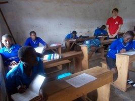 Volunteer teaching in class