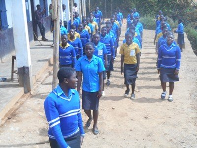Students preparing for youth day celebration