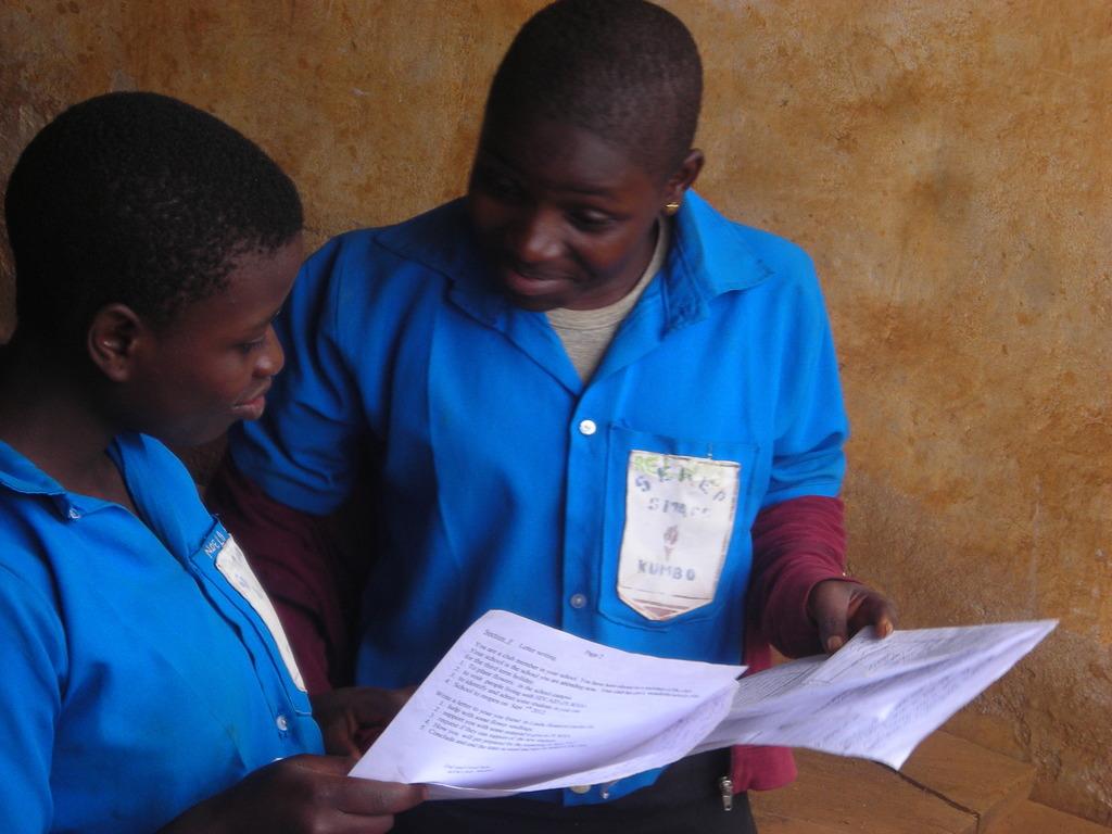 Two Orphans sharing about the Exams