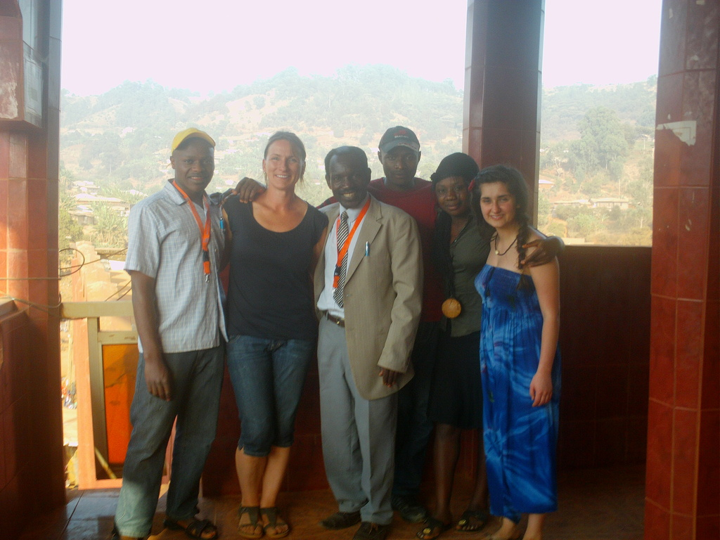 Mrs Andrea from Internation bund Germany and staff