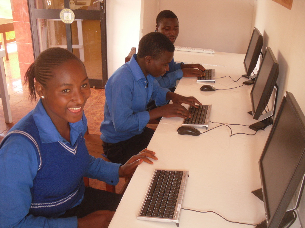 senior students in our computer lab.