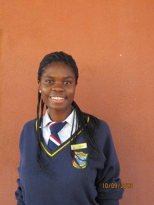 Photo of Margaret in her school uniform