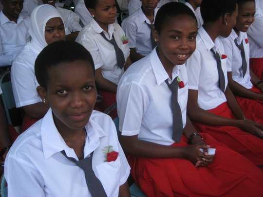 Graduating girls at Arusha Secondary School