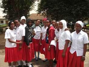 Secondary school students in Tanzania