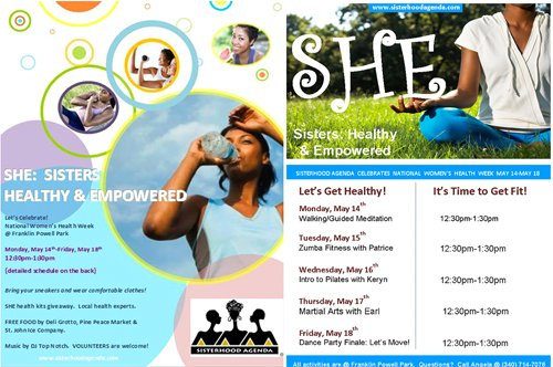 SHE Sisters  Healthy & Empowered Poster