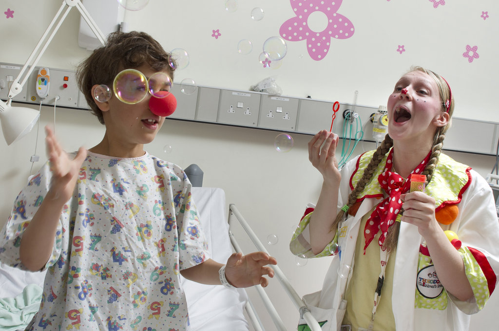 Dr Dotty and a child in hospital
